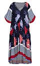Plus Size Val Print Dress - navy floral