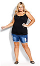Plus Size Lace Cami Top - black