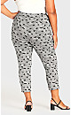 Super Stretch Print Crop Pant -  mono abstract
