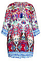 Plus Size Tiana Crinkle Tunic - abstract print