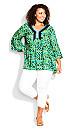 Plus Size Hallie Crochet Trim Top -