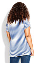 Plus Size Evie Crochet Top - indigo