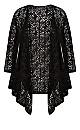 Plus Size Liz Lace Cardigan Black