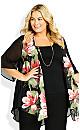 Plus Size Tatum Jacket - black floral
