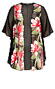Plus Size Tatum Jacket Black Floral Print