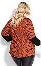 Plus Size Alyson Embroidered Top - tangerine spot