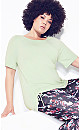 Ruched Side Top - lime