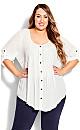 Plus Size Sandy Pintuck Shirt ivory