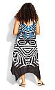 Plus Size Elora Trapeze Maxi Dress - white print