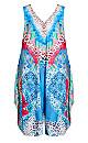 Plus Size Jayla Beaded Jumpsuit - blue
