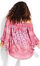 Plus Size Lainey Off Shoulder Top - pink