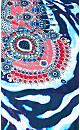 Plus Size Noosa Sparkle Tunic - blue