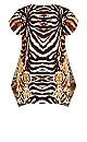 Plus Size Noosa Sparkle Tunic - gold