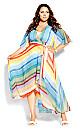 Gelato Stripe Maxi Dress - aqua