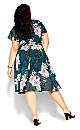 Blossom Short Sleeve Dress - jade