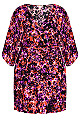 Plus Size Day Date Mini Dress - purple floral