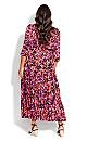 Plus Size Endless Sun Maxi Dress fuchsia floral