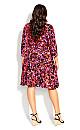 Plus Size Endless Sun Mini Dress fuchsia floral