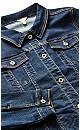 Plus Size Jean Jacket dark wash