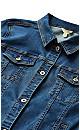 Plus Size Jean Jacket - mid wash