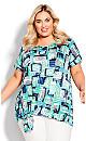 Plus Size Clare Crush Tie Top blue