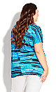 Plus Size Eloise Stripe Top - blue