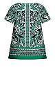 Plus Size Liv Keyhole Short Sleeve Top emerald