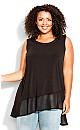 Plus Size Bridget Asymmetrical  Tunic black