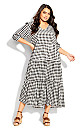 Plus Size To The Max Dress - gingham