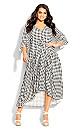 Plus Size Valencia Dress - black gingham