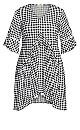Plus Size Valencia Mini Dress - black gingham