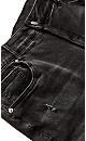 Plus Size Ziggy Rip Crop Jean - black