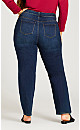 Plus Size 5 Pocket Straight Leg Jean - dark wash
