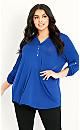 Jersey Plain Shirt - cobalt