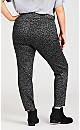 Plus Size Grey Animal Print Jean With Tummy Control - silver