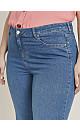 CURVE FIT Midwash Wide Leg Jeans