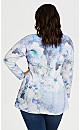 Plus Size Scoop Neck Floral Top - watercolor