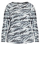 Camo Print Sweatshirt - grey