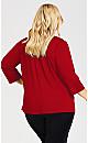 Plus Size Beaded Drape Neck Tunic - sangria