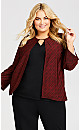 Plus Size Red Plaid 2 For 1 Top - multi