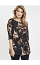 **Grace Gold Floral Woven Tunic