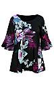 **Grace Black Floral Print Blouse