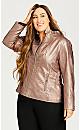 Plus Size Metallic Rose Gold Jacket - rose gold