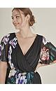 **Scarlett & Jo Black Floral Wrap Dress