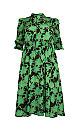 **J By Jolie Green  Pattern Tie Neck Dress