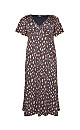 **Aarya Brown Flute Sleeve Maxi Dress