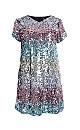 **Aarya Silver Sequin Dress