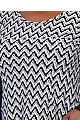 **Izabel Curve Grey Chevron Print Knitted Dress