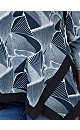 **Izabel Curve Teal Contrast Hem T-Shirt