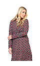 **Izabel Curve Red Geo Print Ruched Dress